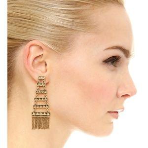 NWT House of Harlow Fringe Chandelier Earrings